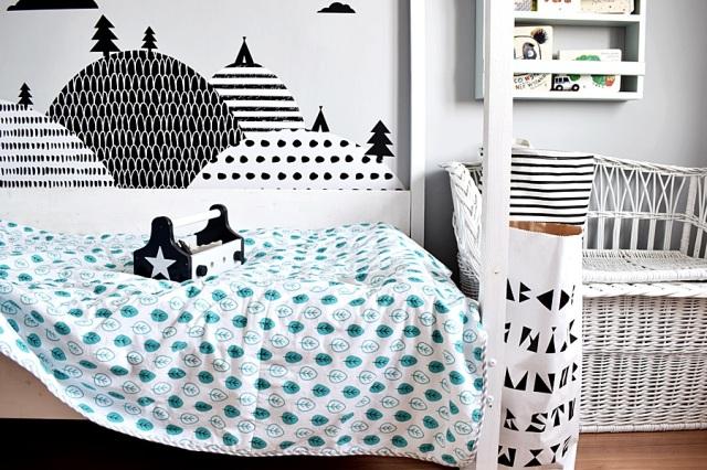pokój chłopca w stylu skandynawskim